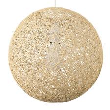Modern 30cm Cream Rattan Wicker Ball Ceiling Light Pendant Shade Lampshade Home