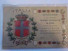 CARTOLINA POSTCARD Franchigia - Vittorio Emanuele III - 1909? militaria