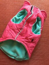 Gooby Cold Weather Fleece Lined Sport Dog Vest with Reflective Lines XL Pink