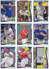 2014 Topps Update Texas Rangers Team Set 12 Different Cards w/4 RCs, Odor
