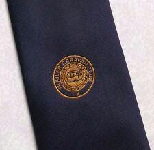 Rimorchio Caravan Club Crested Cravatta Vintage con Logo Blu Scuro 1990s società Cravatta