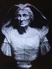 Portrait Bust of Elderly Lady, 17th c. Italian, Magic Lantern Glass Slide