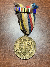"""Ww1 French Wounded Fund Medal """" Do Right And Fear No Man"""""""