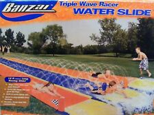 **RARE** Banzai Triple Wave Racer Water Slide with 3 Inflatable Flags (70130)