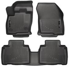 2015 2016 2017 Ford Edge Husky WeatherBeater Front & 2nd Row Black Floor Liners