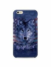 USA Flag Wolf United We Stand iPhone 4S 5S 5 6S 7 8 X XS Max XR 11 Pro Plus Case
