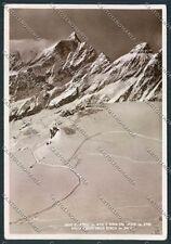 Aosta Cervino Cresta del Leone Foto FG cartolina D8576 SZD