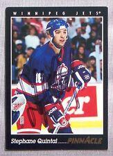 Stephane Quintal Winnipeg Jets 1993-94 Pinnacle Signed Card