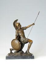 signed E.DROUOT, Bronze Statue Greek warrior of coliseum sculpture