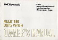 2001 KAWASAKI ATV MULE 520 UTILITY VEHICLE P/N 99920-1988-01 OWNERS MANUAL (074)