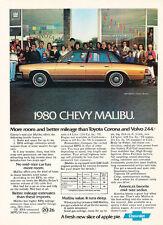 1980 Chevrolet Malibu Classic Sedan - Original Car Advertisement Print Ad J170