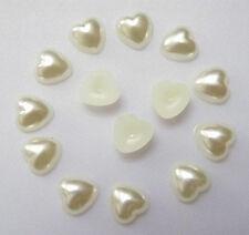 300 X 4mm Dorso Plano Perlas de corazón