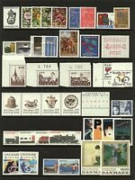 Denmark 1990/1 range of commemorative sets and singles to include Flora D Stamps