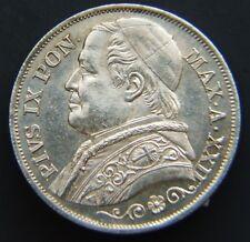 STATO PONTIFICIO  PIO IX lire 2  1867 FDC RARA (ID 89358)