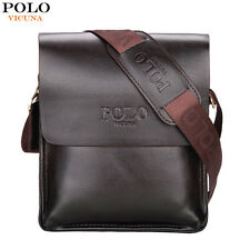 Mens s Polo Genuine Leather Vintage Messenger Bag Brown Leather
