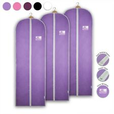 3x Garment Bag Bridesmaid Dress Cover Clothes Gown Breathable Storage Carrier