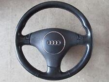 3 radios de volante deportivo volante de cuero audi a4 b6 a6 volante negro 8z0419091ad