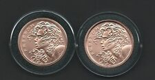 RARE .999 Pure Copper Double Freedom Girl One AVDP Ounce Round in Air-Tite
