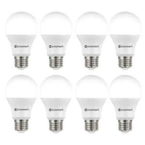 60-Watt Equivalent A19 Non-Dimmable Led Light Bulb Soft White (8-Pack)