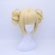 Anime My Hero Boku no Academia Himiko Toga Wigs Light Golden Cosplay Wig+Cap