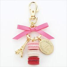 LADUREE Japan ❤ Bag Chain Keychain Ring Macaron Rose Pink w/ Original Box
