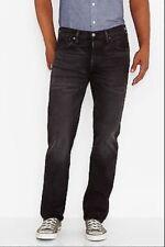 LEVIS 501 Original Fit Straight Leg Button Fly Jeans Black Distressed Mens 29X32