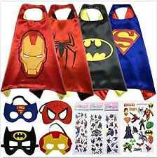 Children  Comic Book Hero Cape Mask Kids Fancy Dress Costume Outfit Hot