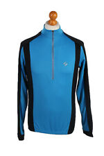 Vintage Crane Sport Techtex Speed Long Sleeve Bcycle Race Jersey M Blue - CW0621