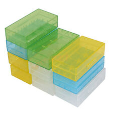 10PCS 18650 16340 CR123A Battery Case Hard PP Holder Storage Color Box X5P4
