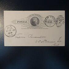 ETATS UNIS USA LETTRE COVER ENTIER POSTAUX CAD NEW YORK 1887 COPY FOR THE MARCH