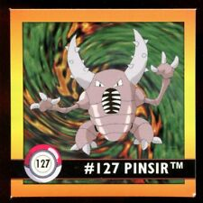 POKEMON STICKER ENGLISH CARD 50X50 1998 NORMAL N°  127 PINSIR SCARABRUTE