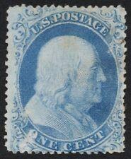"""US Sc# 18 *MINT NO GUM* { 1c FRANKLIN } """"RARE TYPE I OF 1857 SERIES CV$ 1,100.00"""