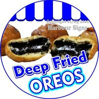 Deep Fried Oreos DECAL (Choose Your Size) Concession Food Truck Sticker Circle