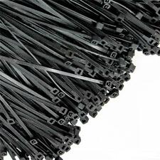 "1000 PCS Pack 6"" Inch Black Network Zip Nylon Cable Cord Wire Tie Strap Pop P*US"