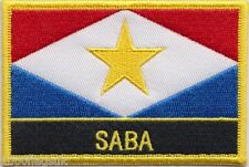 Netherlands Saba Flag Embroidered Patch Badge - Sew or Iron on