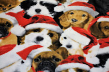 NEW Fabric Micro Polar Fleece Dogs Christmas Hats Plush Material 1 Metre x 70cm