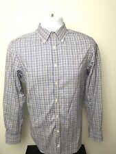 CHARLES TYRWHITT Check Dress Shirt Size Small EXTRA SLIM FIT non-iron Long Sleev