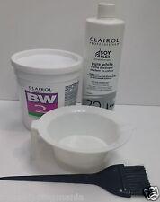 CLAIROL BW2 Powder Lightener 8oz + Creme Developer 20V 16oz+ Bowl + Brush