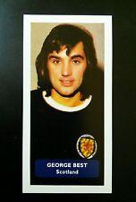 Manchester United / Scotland (!) GEORGE BEST - Score UK trade card