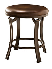 Hillsdale Hastings Backless Vanity Stool, Antique Brown 19H x 16W x 16D, New