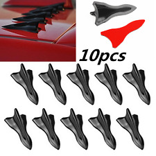 10PC Vortex Generator 3D Shark Fin Jet Car Rear Roof Wing Spoiler Diffuser New