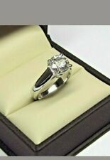 2 Ct Round cut Moissanite Diamond Engagement Vintage Ring 925 Sterling Silver