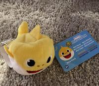 """Baby Shark """"BABY SHARK"""" Yellow Mini Plush Stuffed Beanie Animal Pinkfong Toy New"""