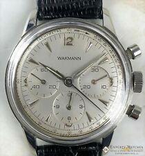 Servinced Vintage Wakmann Breitlilng Chronograph Lemania 1280 321 big eye Watch