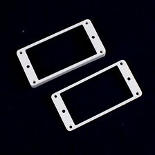 Set of 2 Humbucker Pickup Mounting Rings /Bridge and Neck/ ,Curved bottom ,White