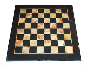 "18"" Chess Table top semi precious stones marquetry inlay handmade art"