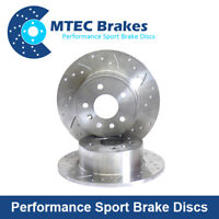 Ford Focus 1.6TDCI 1.8TDCi 2.0 2.0TDCi 05-12 Rear Drilled Grooved Brake Discs