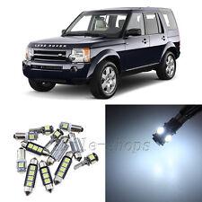 Error Free White 15pcs Interior LED Light Kit for 04-09 Land Rover Discovery 3