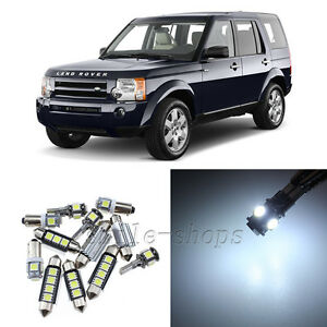 Error Free White 15pcs Interior LED Light Kit for 04-09 Land Rover Discovery 3