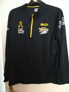 leeds rhinos players no 12 l/sleeve rugby league training shirt size xl good con